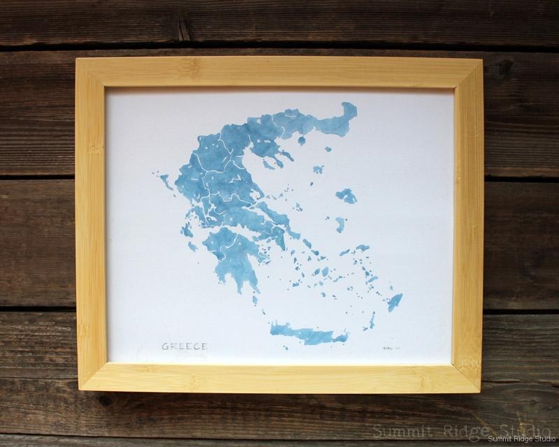 Greece framed