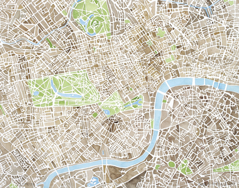 London sepia
