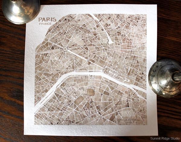 Paris sepia