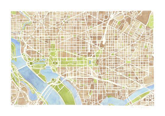 Washington DC sepia
