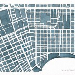 New Orleans Big Easy City Map print