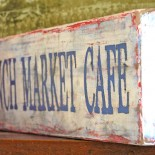 French Market Cafe Painted Wood Sign