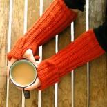 Vintage Red Fingerless Gloves