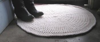Cottage Shabby Chic Crochet Rug