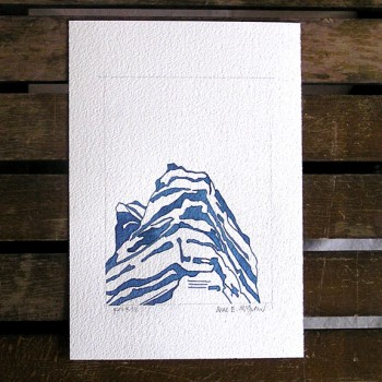 Rocky Mountain shadow watercolor in Indigo