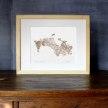 Aspen, Colorado watercolor map