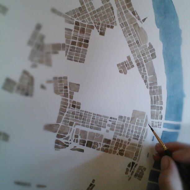 Sepia city at Summit Ridge Studio
