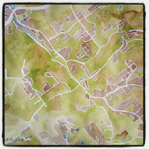 Upstate #newyork #watercolor  #map #summitridge