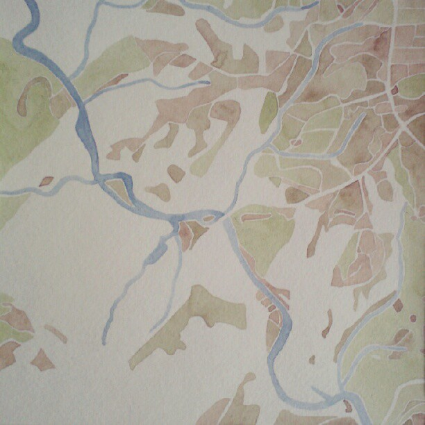 Abbeville County #summitridge  #watercolor  #map
