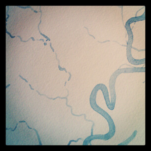 River boundry #custom #watercolor  #map