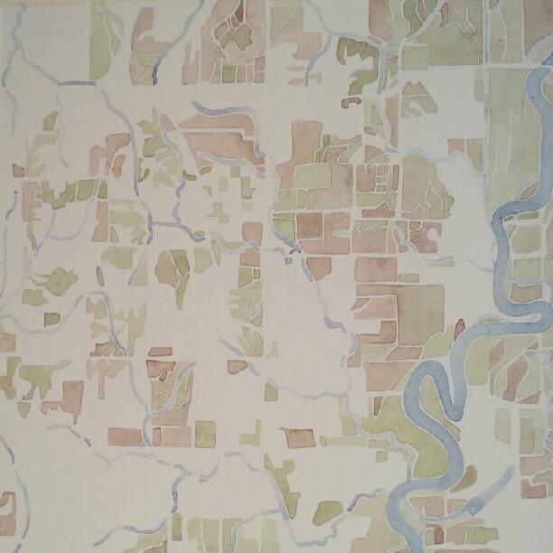 Crawford County #summitridge  #watercolor  #map  #custom