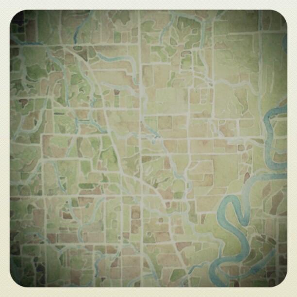 Farm #watercolor  #map  #summitridge  #art
