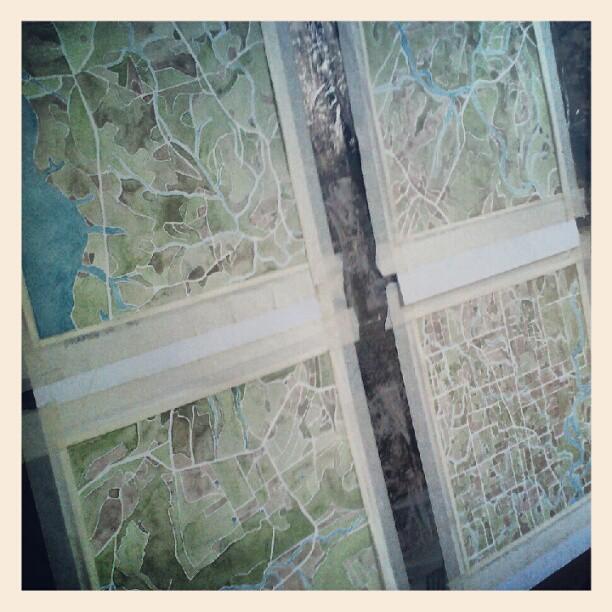 Finishing touches #maddox #farms #custom  #watercolor  #map  #summitridge  #denverart
