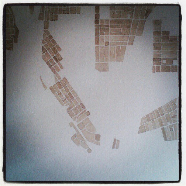 New city #buffalo #watercolor  #map  #maps #denverart  #summitridge