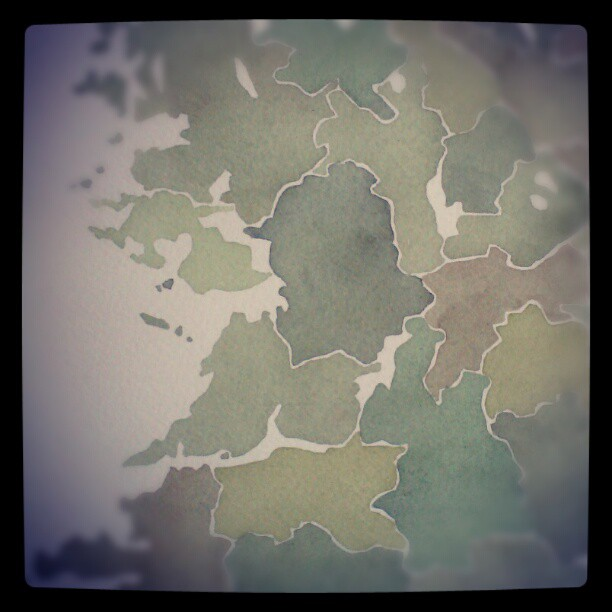 Ireland autumn colors #ireland  #watercolor  #map  #summitridge
