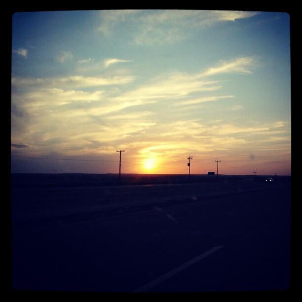 Sunset headed back West #texas #hwy287 #denver