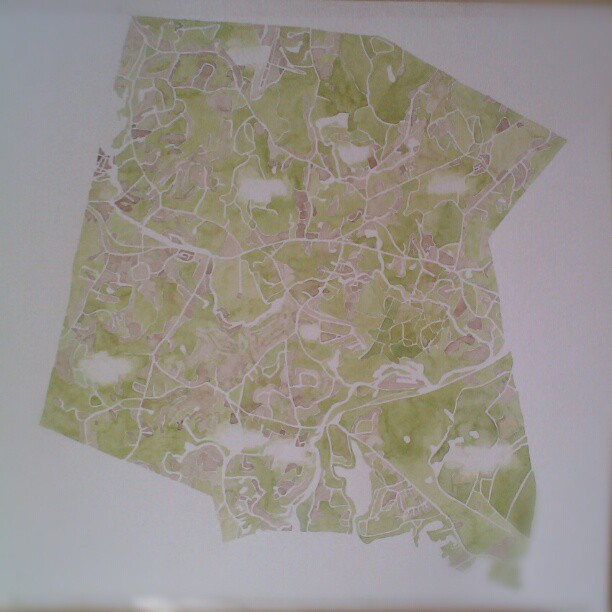 Stow #custom  #watercolor  #map  #summitridge  #denverart