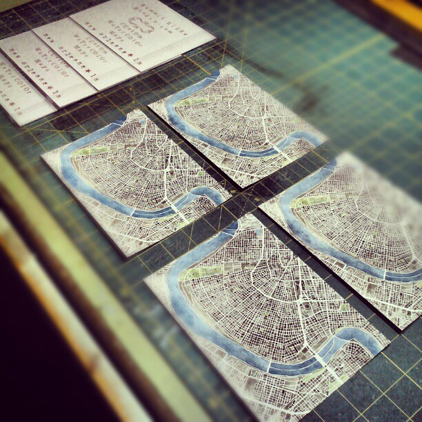 Making prints #neworleans #nola #etsy #summitridge #watercolor #maps