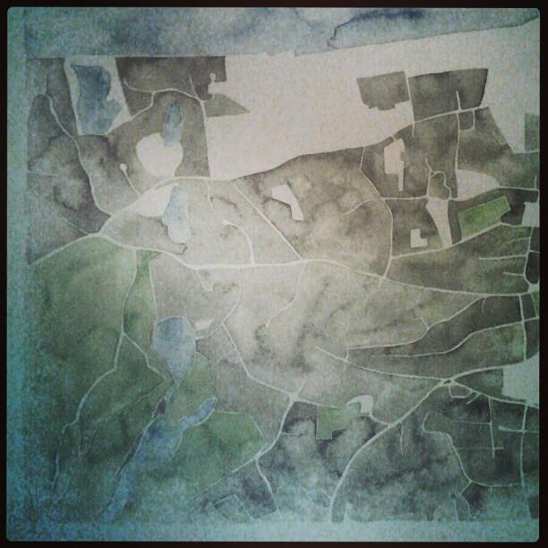 Green #watercolor #summitridge #art