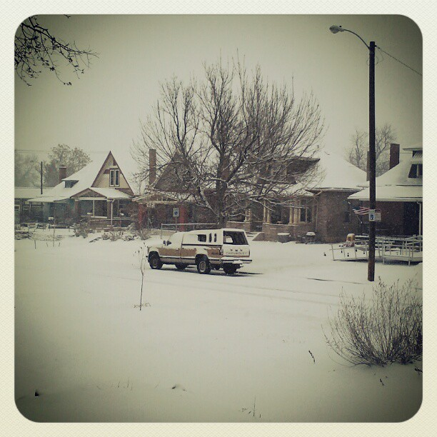 The weather outside #hotcoffee #denver #snow