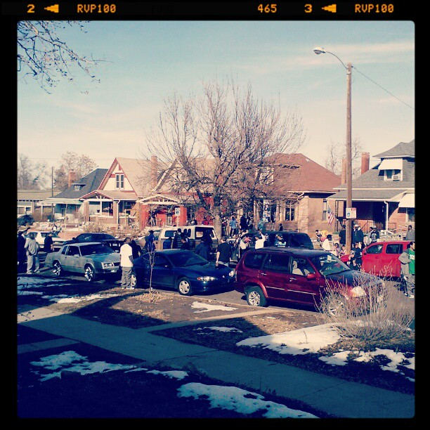 Rap video happening on my street #denver
