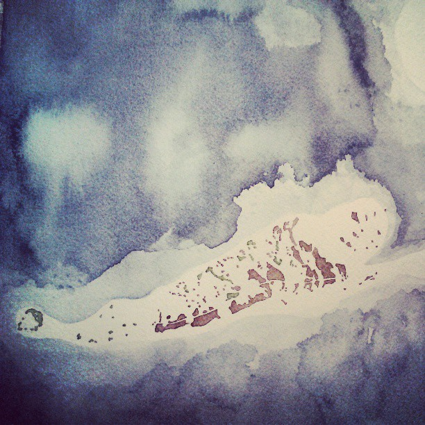 Islands #keywest #map #watercolor #summitridge #etsy
