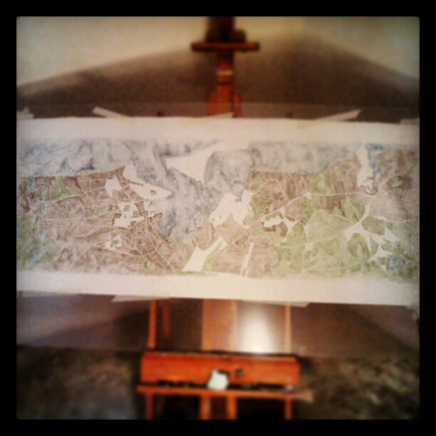Watercolor map #summitridge #map #art #denver