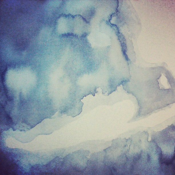 Water #gulf #watercolor #map #indigo #ocean #summitridge #art #painting #commission #etsy