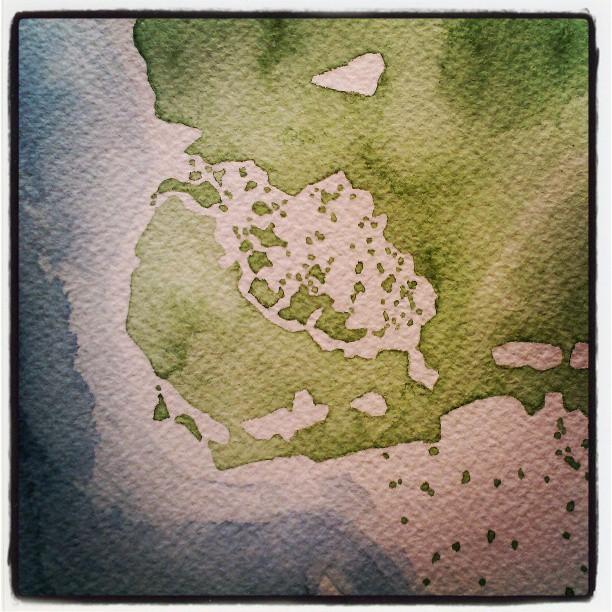 Everglades #florida #watercolor #map #summitridge