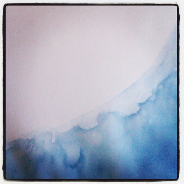 Water #watercolor #painting #art #summitridge #indigo #color #paper #map