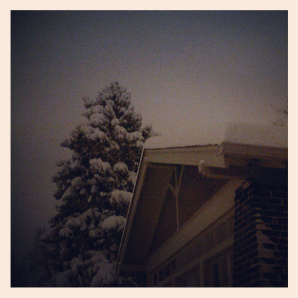 Snowy night #denver #snow