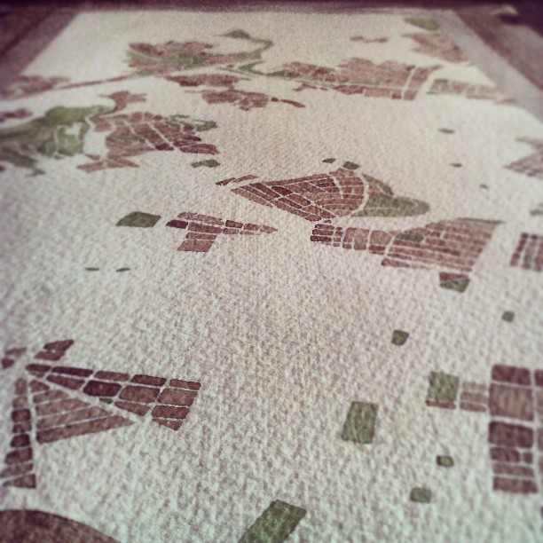 In perspective #oakland #cali #map #summitridge #art #panoramic