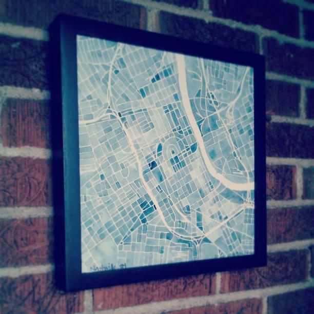 Nashville #blueprint #indigo #watercolor #print #etsy #summitridge #nashville #map