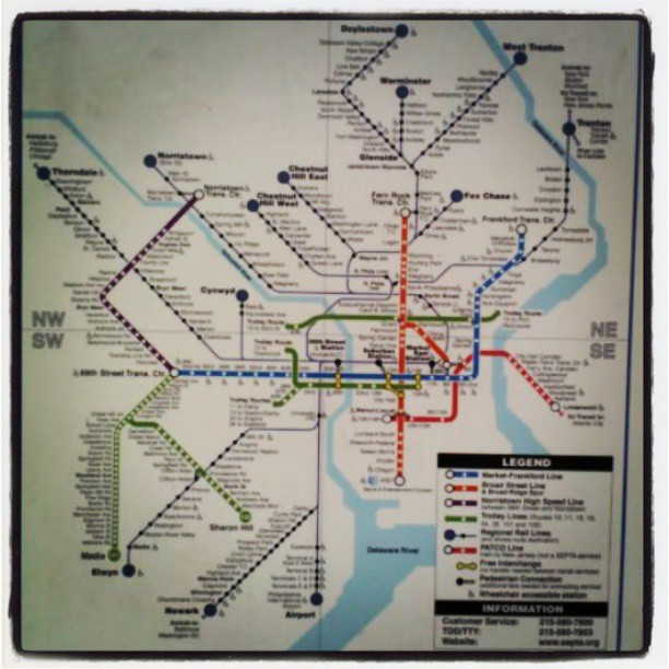 Trains #philly #map