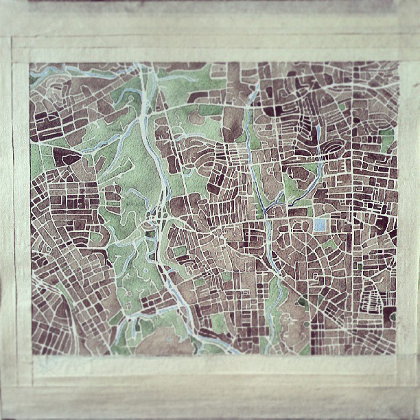 Baltimore neighborhood #custom #watercolor #map #summitridge