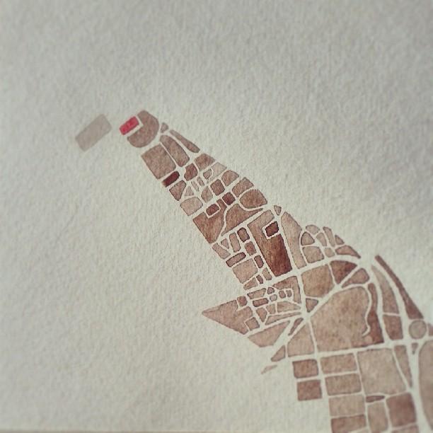 University map #rutgers #newbrunswick #nj #watercolor #map #summitridge
