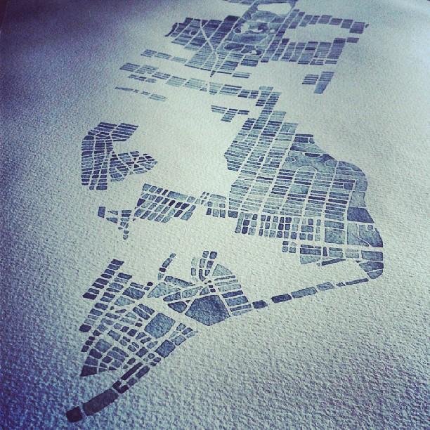 NYC #watercolor #map #Manhattan #nyc #summitridge