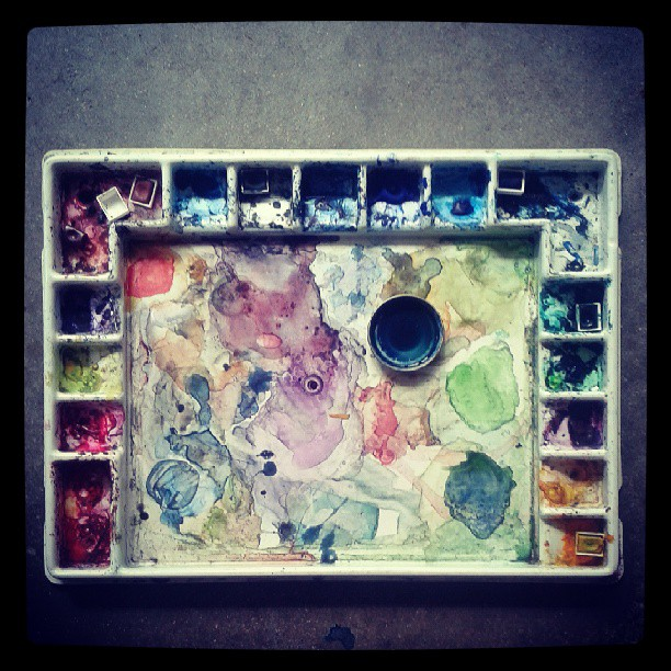 Palette #colors #watercolor #mixology #summitridge