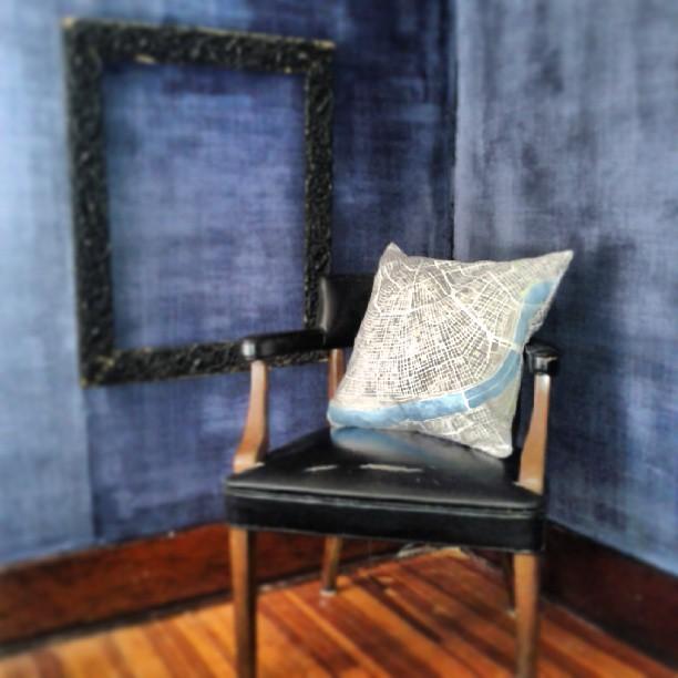 New Orleans watercolor map pillow #watercolor #map #decor #interiordesign #summitridge #society6
