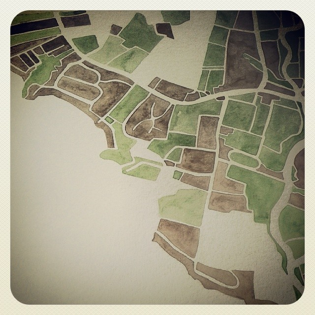 North Carolina #camden #nc #map #watercolor #commission #art #summitridge