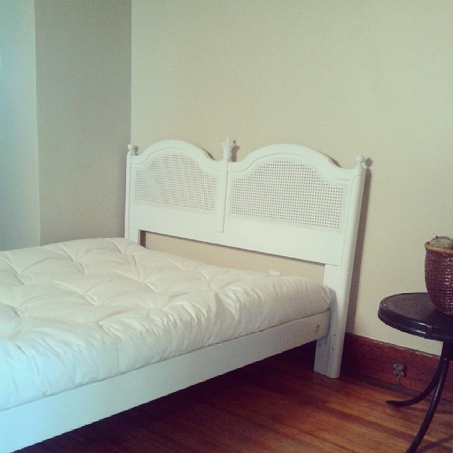 New bed #vintage #cane #bedroom #decor