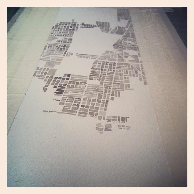 Custom Memphis #watercolor #map #panorama #summitridge