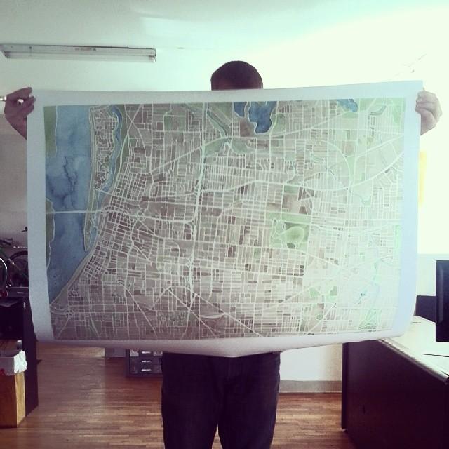 Memphis large print #watercolor #map #print #summitridge