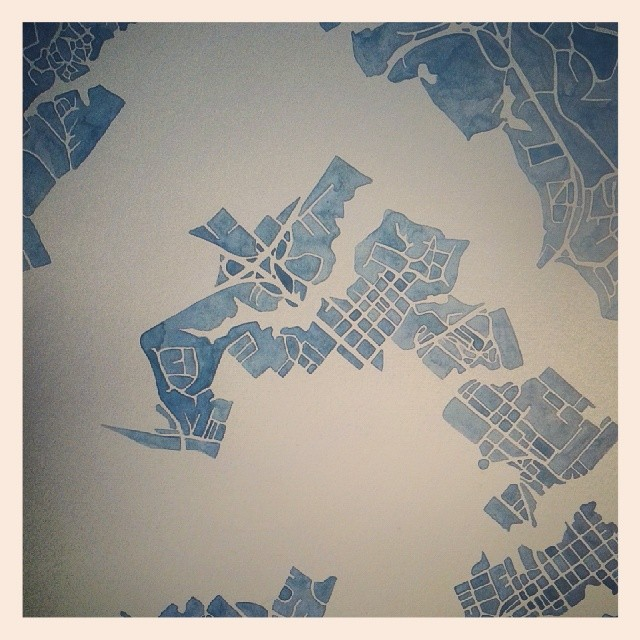 Annapolis #watercolor #map #art #etsy #summitridge