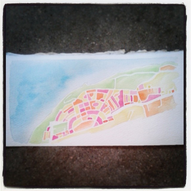Study #watercolor #map #summitridge