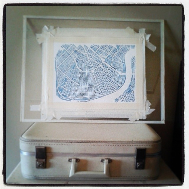 New Orleans #watercolor #nola #map #art #indigo #blueprint #summitridge