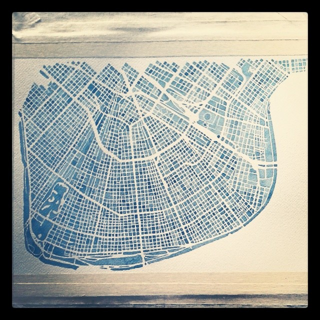 Finishing touches #nola #indigo #watercolor #map #summitridge