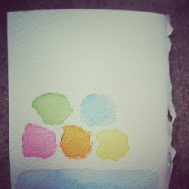 color palette #watercolor