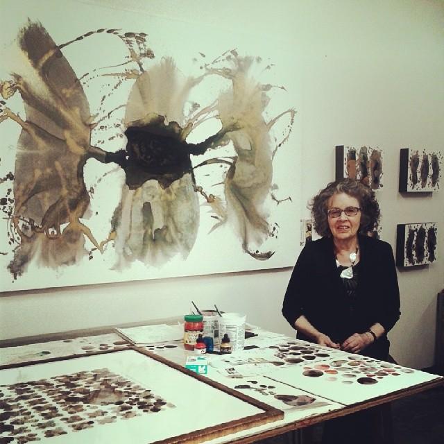 Love Priscilla Fowler #acrylic #ink #mylar #canvas #alchemy #art #Denver #friday