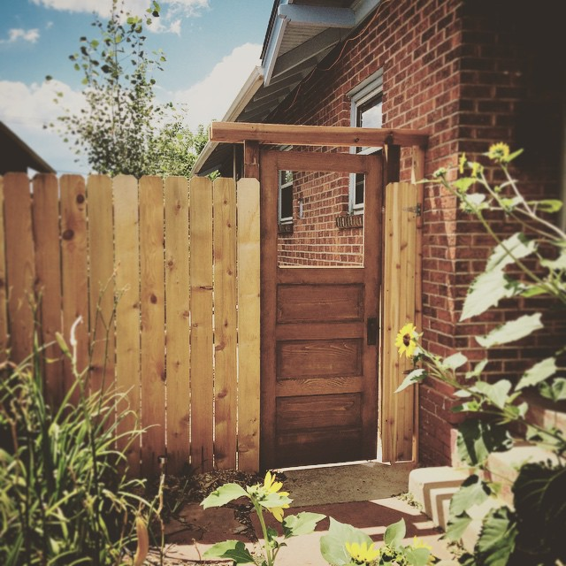 Garden Gate From Old Door Built By Trent #Denver #door #garden #pinterest